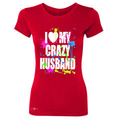 I Love My Crazy Husband Valentines Day Women's T-shirt Couple Tee - Zexpa Apparel - 4