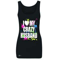 I Love My Crazy Husband Valentines Day Women's Tank Top Couple Sleeveless - Zexpa Apparel - 1