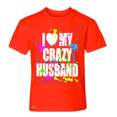 I Love My Crazy Husband Valentines Day Youth T-shirt Couple Tee - Zexpa Apparel - 2