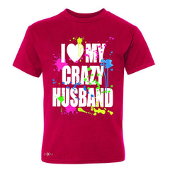 I Love My Crazy Husband Valentines Day Youth T-shirt Couple Tee - Zexpa Apparel - 4
