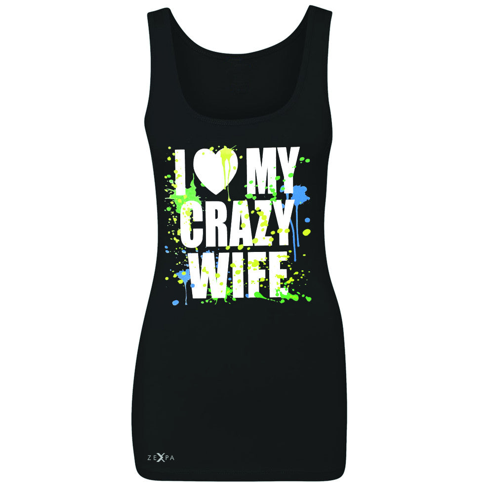 I Love My Crazy Wife Valentines Day 14th Women's Tank Top Couple Sleeveless - Zexpa Apparel - 1