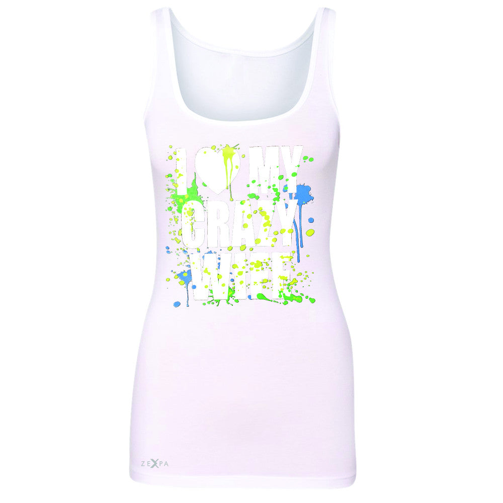 I Love My Crazy Wife Valentines Day 14th Women's Tank Top Couple Sleeveless - Zexpa Apparel - 4