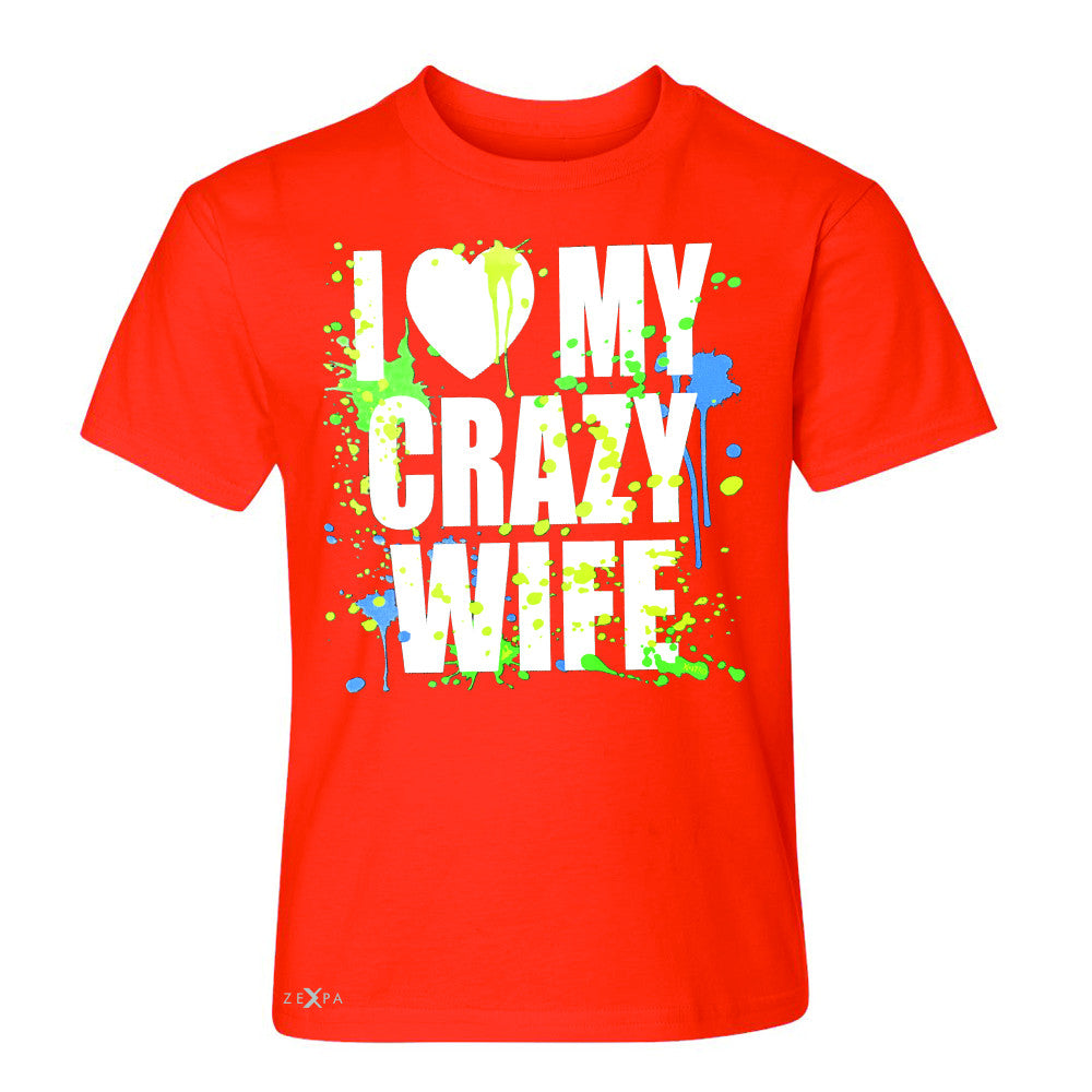 I Love My Crazy Wife Valentines Day 14th Youth T-shirt Couple Tee - Zexpa Apparel - 2