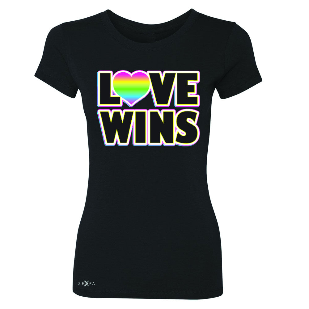 Love Wins - Love is Love Gay is Good Women's T-shirt Gay Pride Tee - Zexpa Apparel - 1