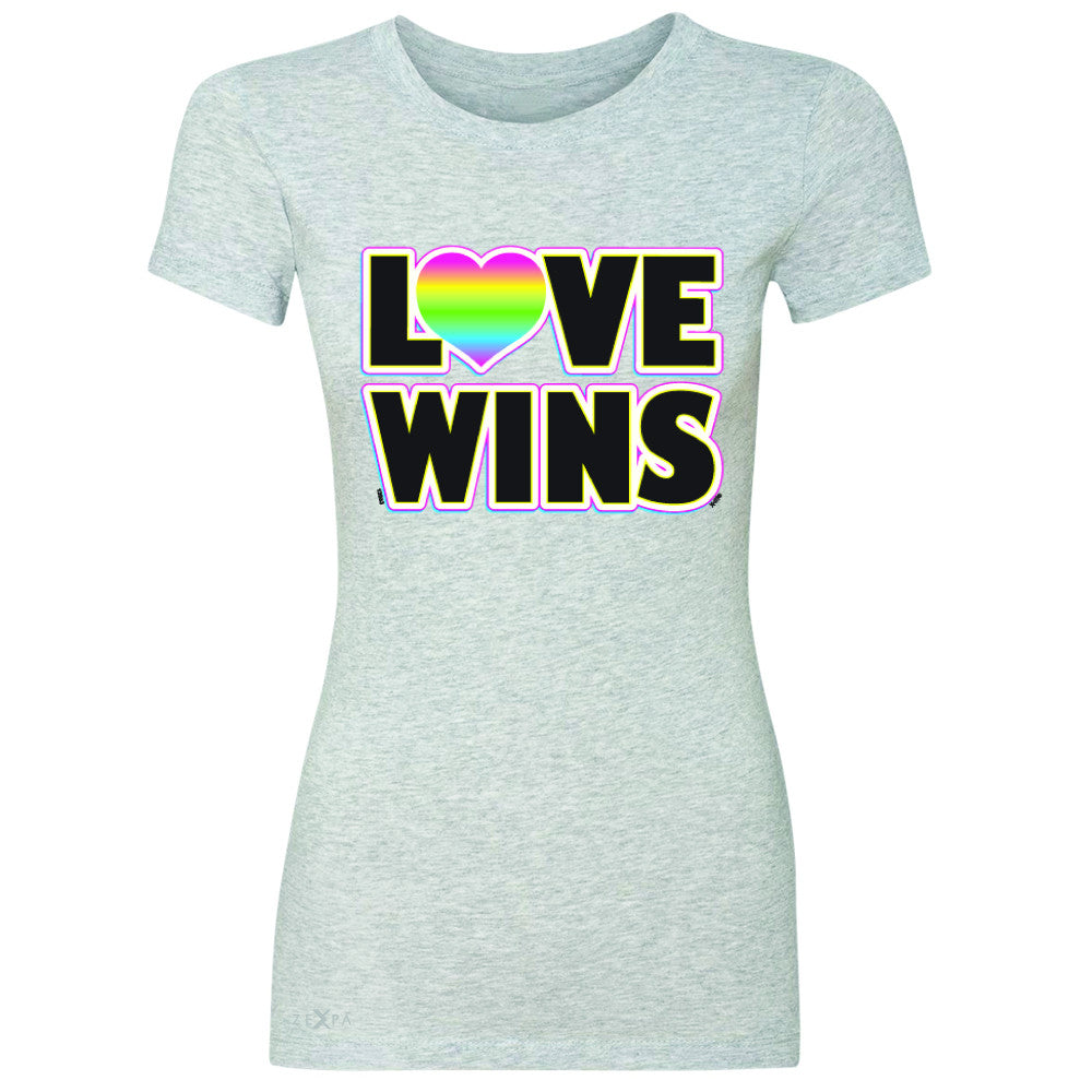 Love Wins - Love is Love Gay is Good Women's T-shirt Gay Pride Tee - Zexpa Apparel - 2