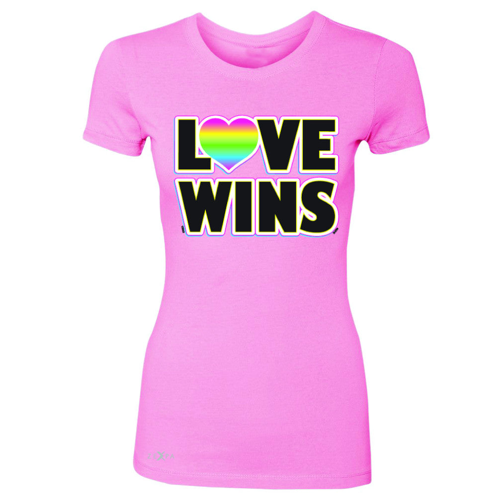 Love Wins - Love is Love Gay is Good Women's T-shirt Gay Pride Tee - Zexpa Apparel - 3