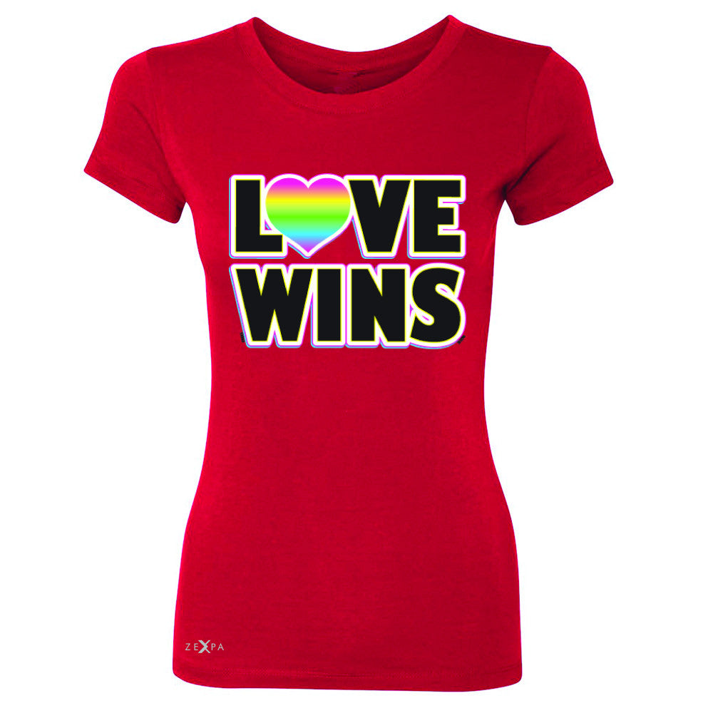 Love Wins - Love is Love Gay is Good Women's T-shirt Gay Pride Tee - Zexpa Apparel - 4