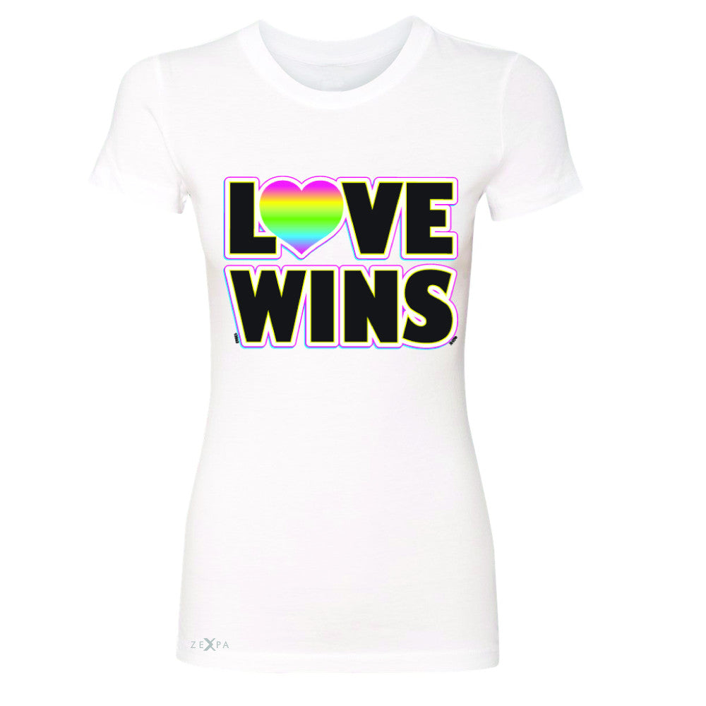 Love Wins - Love is Love Gay is Good Women's T-shirt Gay Pride Tee - Zexpa Apparel - 5