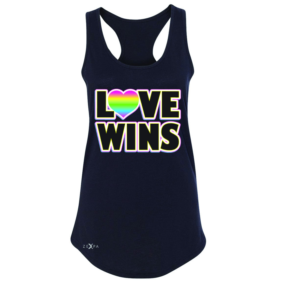 Love Wins - Love is Love Gay is Good Women's Racerback Gay Pride Sleeveless - Zexpa Apparel - 1