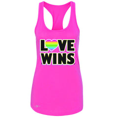 Love Wins - Love is Love Gay is Good Women's Racerback Gay Pride Sleeveless - Zexpa Apparel - 2
