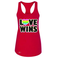 Love Wins - Love is Love Gay is Good Women's Racerback Gay Pride Sleeveless - Zexpa Apparel - 3