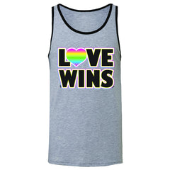 Love Wins - Love is Love Gay is Good Men's Jersey Tank Gay Pride Sleeveless - Zexpa Apparel - 2