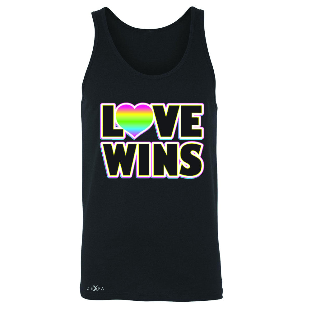 Love Wins - Love is Love Gay is Good Men's Jersey Tank Gay Pride Sleeveless - Zexpa Apparel - 1