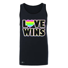 Love Wins - Love is Love Gay is Good Men's Jersey Tank Gay Pride Sleeveless - Zexpa Apparel - 3