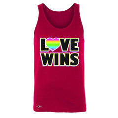 Love Wins - Love is Love Gay is Good Men's Jersey Tank Gay Pride Sleeveless - Zexpa Apparel - 4
