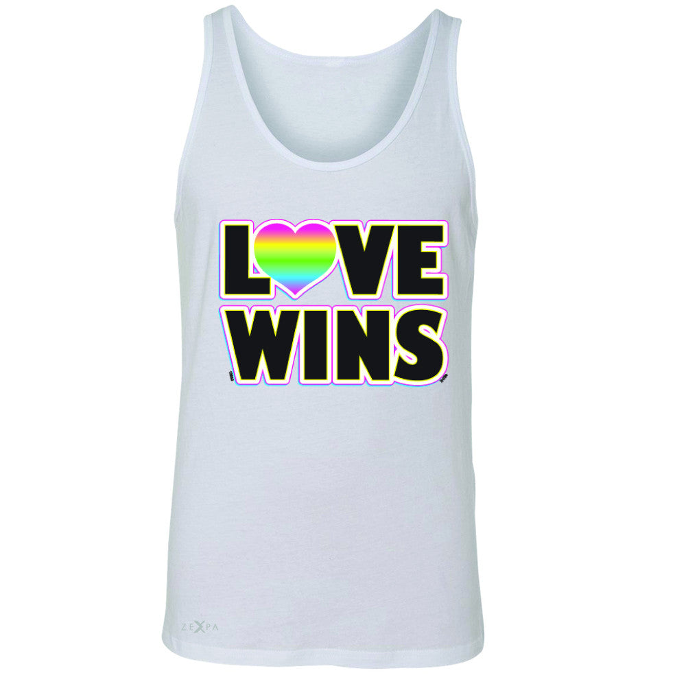 Love Wins - Love is Love Gay is Good Men's Jersey Tank Gay Pride Sleeveless - Zexpa Apparel - 5