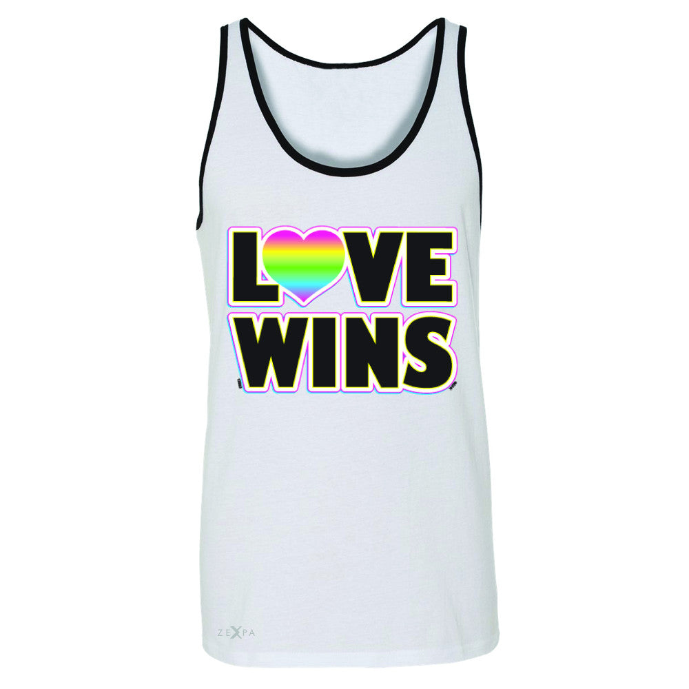 Love Wins - Love is Love Gay is Good Men's Jersey Tank Gay Pride Sleeveless - Zexpa Apparel - 6