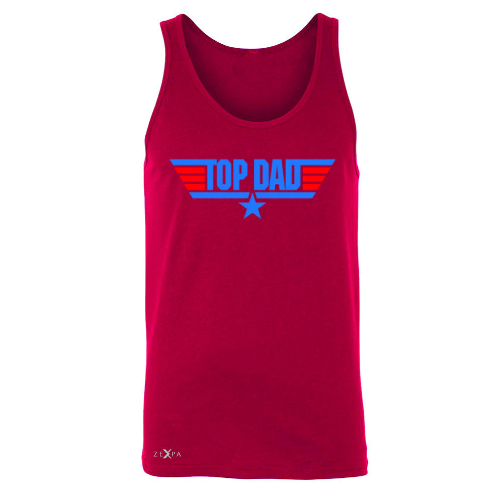 Top Dad - Only for Best Fathers Men's Jersey Tank Father's Day Sleeveless - Zexpa Apparel - 4
