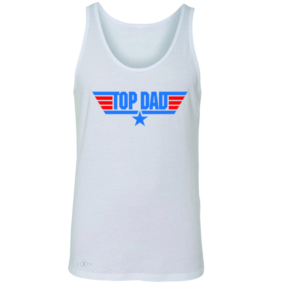 Top Dad - Only for Best Fathers Men's Jersey Tank Father's Day Sleeveless - Zexpa Apparel - 5