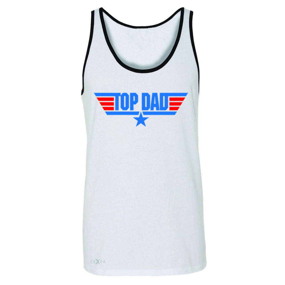 Top Dad - Only for Best Fathers Men's Jersey Tank Father's Day Sleeveless - Zexpa Apparel - 6