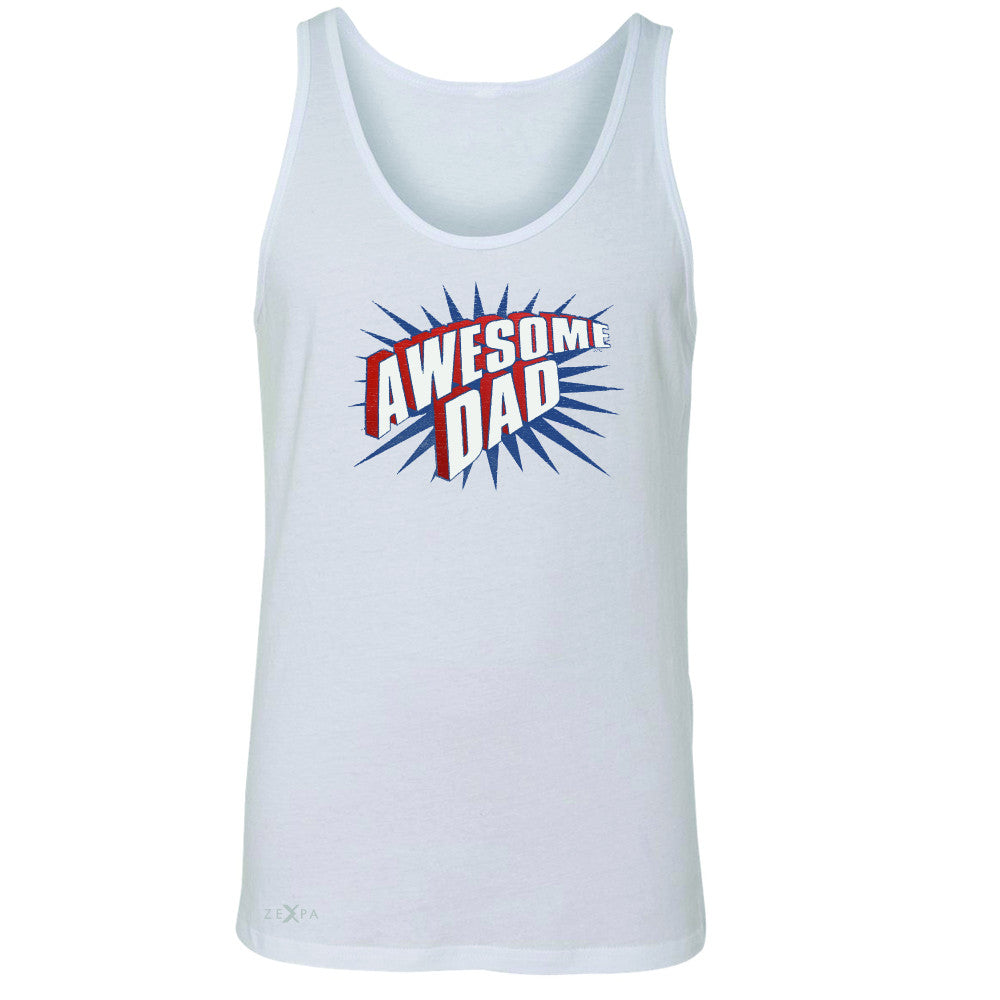 Awesome Dad - For Best Fathers Only Men's Jersey Tank Father's Day Sleeveless - Zexpa Apparel Halloween Christmas Shirts