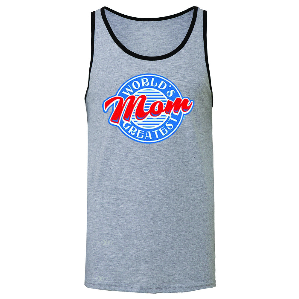 World's Greatest Mom - For Your Mom Men's Jersey Tank Mother's Day Sleeveless - Zexpa Apparel - 2