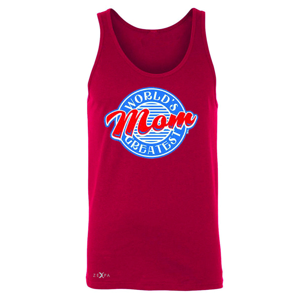World's Greatest Mom - For Your Mom Men's Jersey Tank Mother's Day Sleeveless - Zexpa Apparel - 4