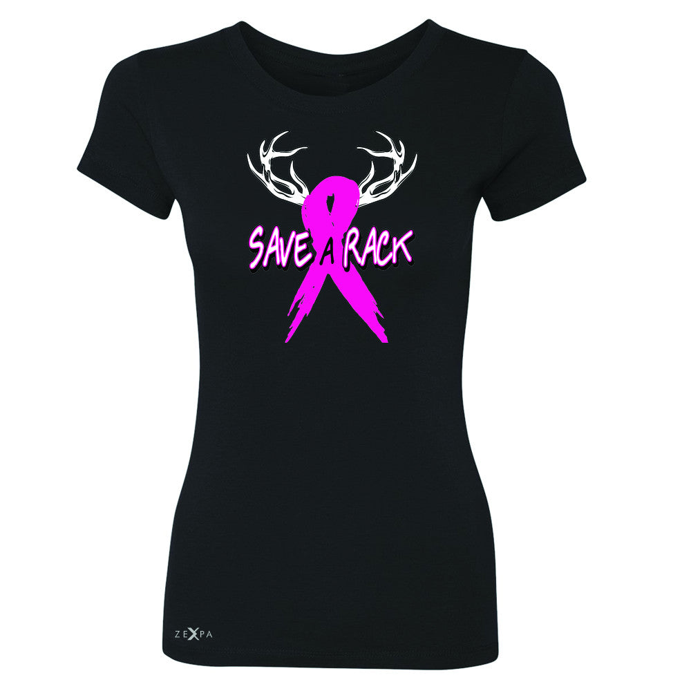 Save A Rack Breast Cancer October Women's T-shirt Awareness Tee - Zexpa Apparel - 1