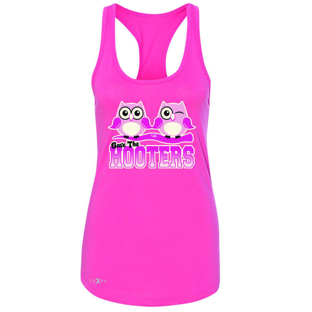 Save the Hooters Breast Cancer October Women's Racerback Awareness Sleeveless - Zexpa Apparel - 2