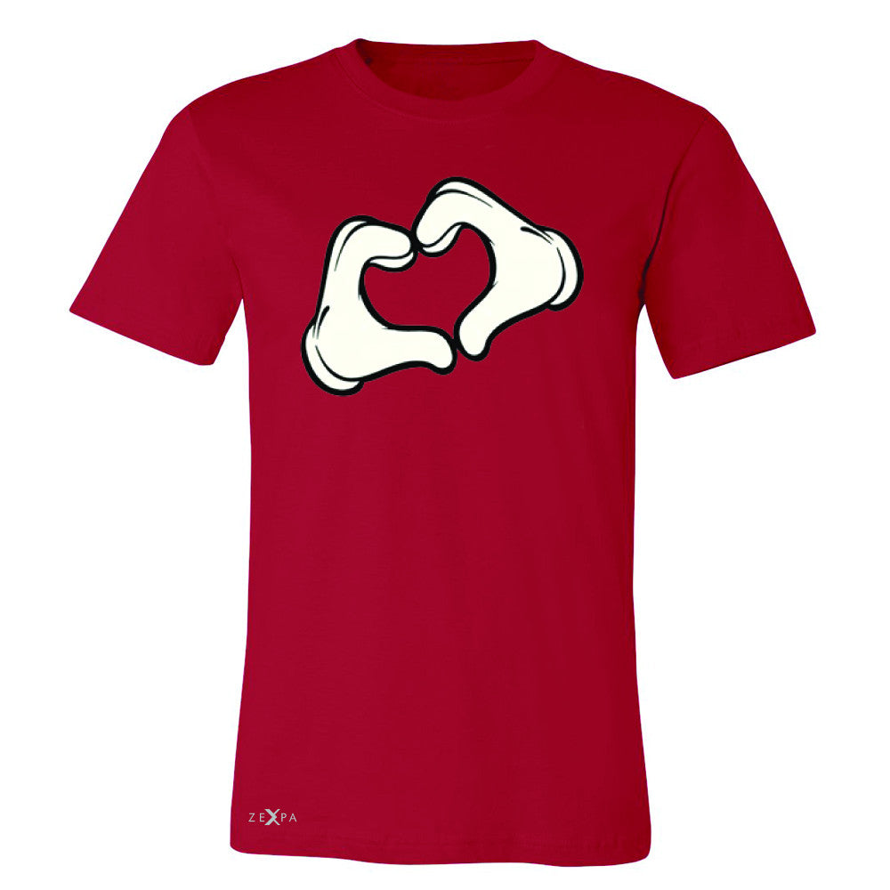 Cartoon Hands Heart Showing Men's T-shirt Humor Tee - Zexpa Apparel Halloween Christmas Shirts