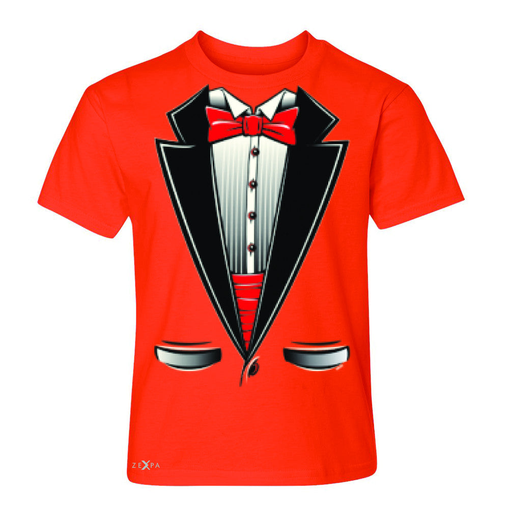 Smokin Christmas Tuxedo Cool Youth T-shirt Halloween Costume Tee - Zexpa Apparel - 2