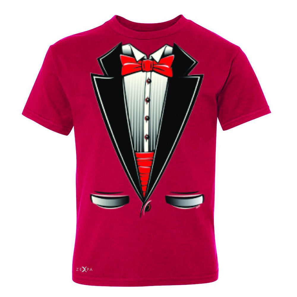 Smokin Christmas Tuxedo Cool Youth T-shirt Halloween Costume Tee - Zexpa Apparel - 4