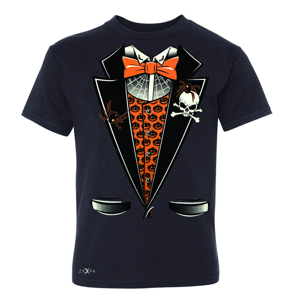 Halloween Vampire Smokin Tuxedo Youth T-shirt Cool Costume Tee - Zexpa Apparel - 1