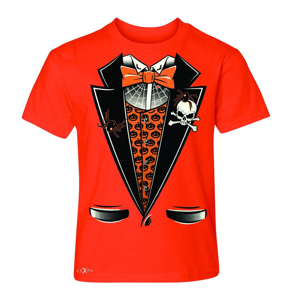 Halloween Vampire Smokin Tuxedo Youth T-shirt Cool Costume Tee - Zexpa Apparel - 2