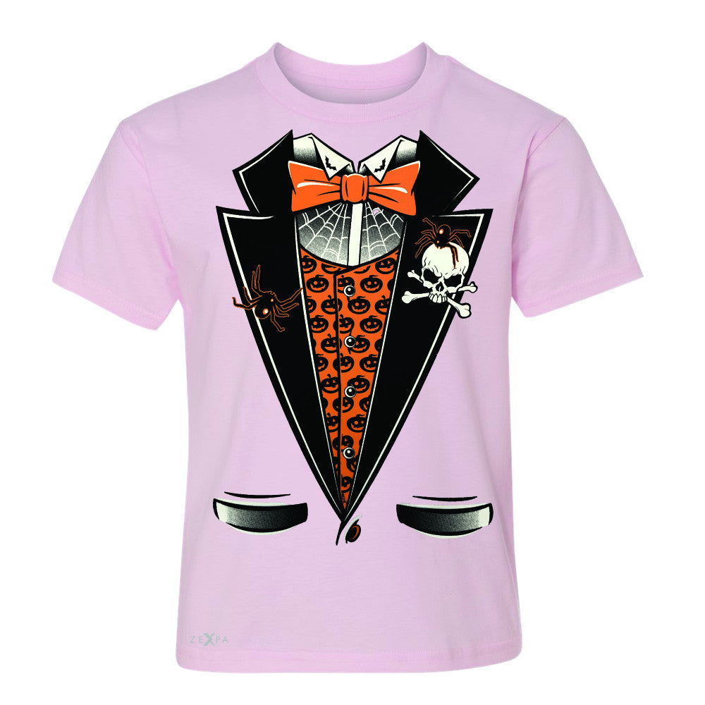 Halloween Vampire Smokin Tuxedo Youth T-shirt Cool Costume Tee - Zexpa Apparel - 3