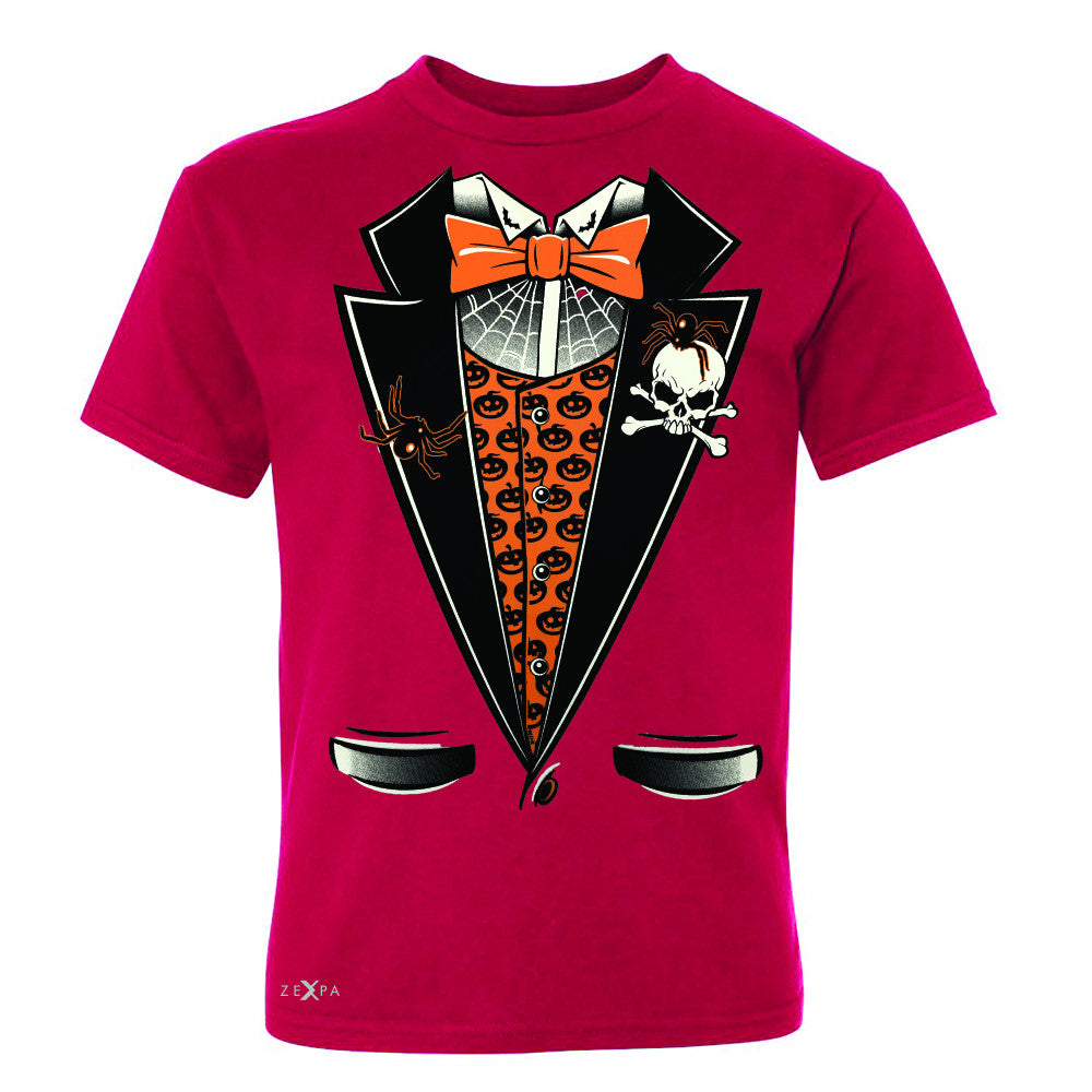 Halloween Vampire Smokin Tuxedo Youth T-shirt Cool Costume Tee - Zexpa Apparel - 4