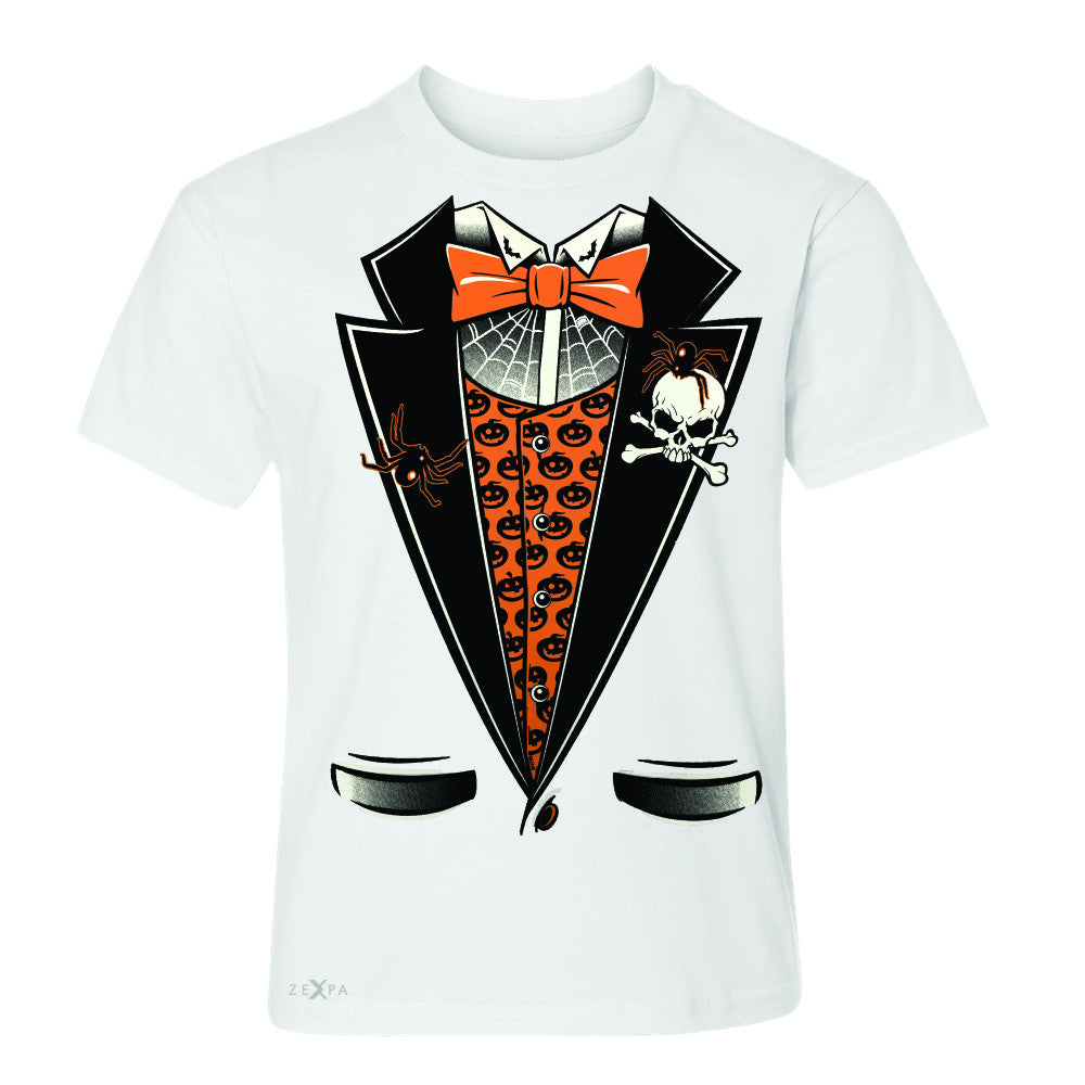 Halloween Vampire Smokin Tuxedo Youth T-shirt Cool Costume Tee - Zexpa Apparel - 5