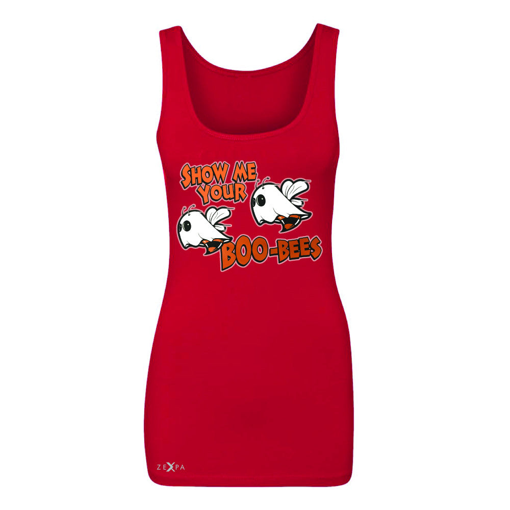 Show Me Your Boo-Bees Ghost  Women's Tank Top Halloween Costume Sleeveless - Zexpa Apparel - 3