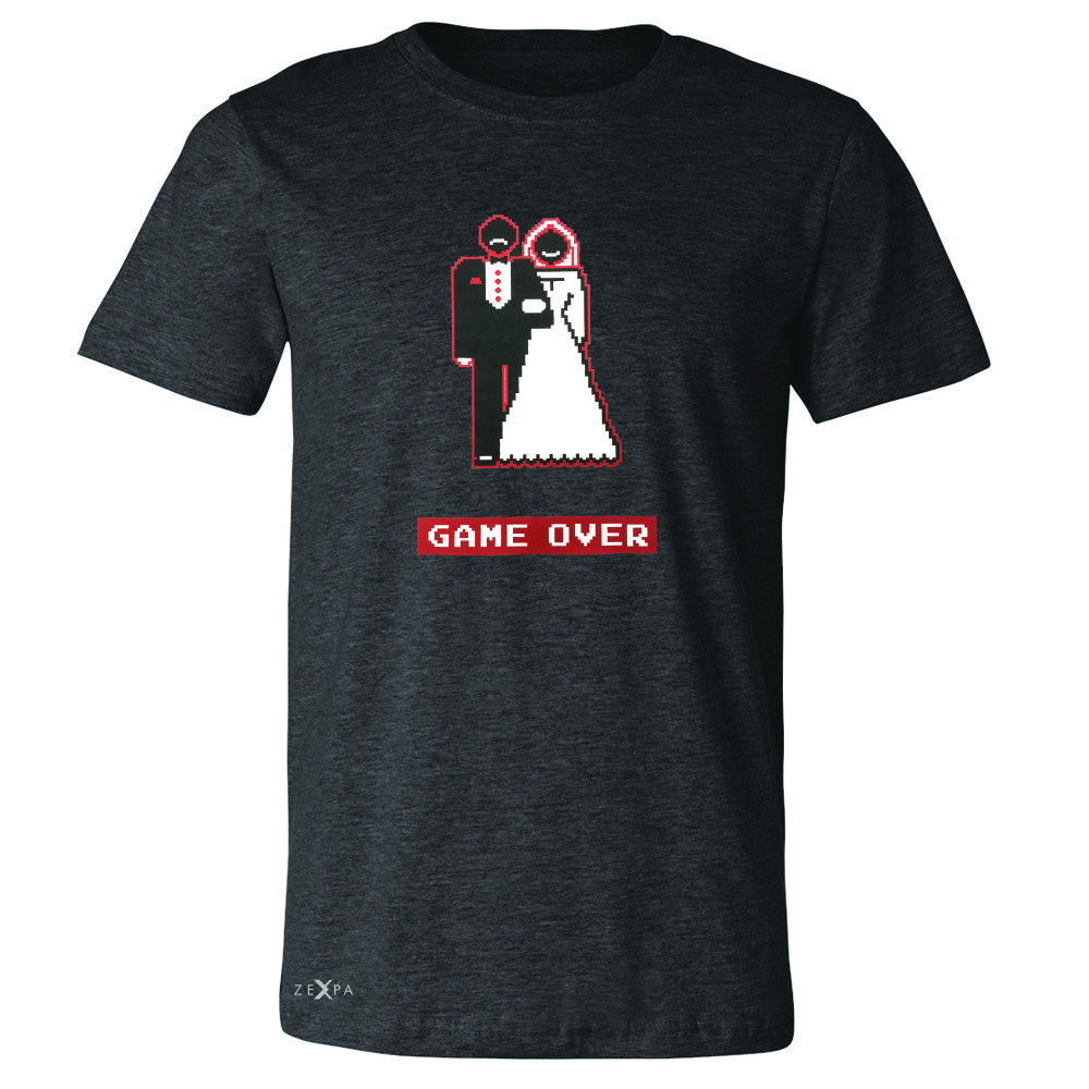 Game Over Wedding Married Video Game Men's T-shirt Funny Gift Tee - Zexpa Apparel - 2