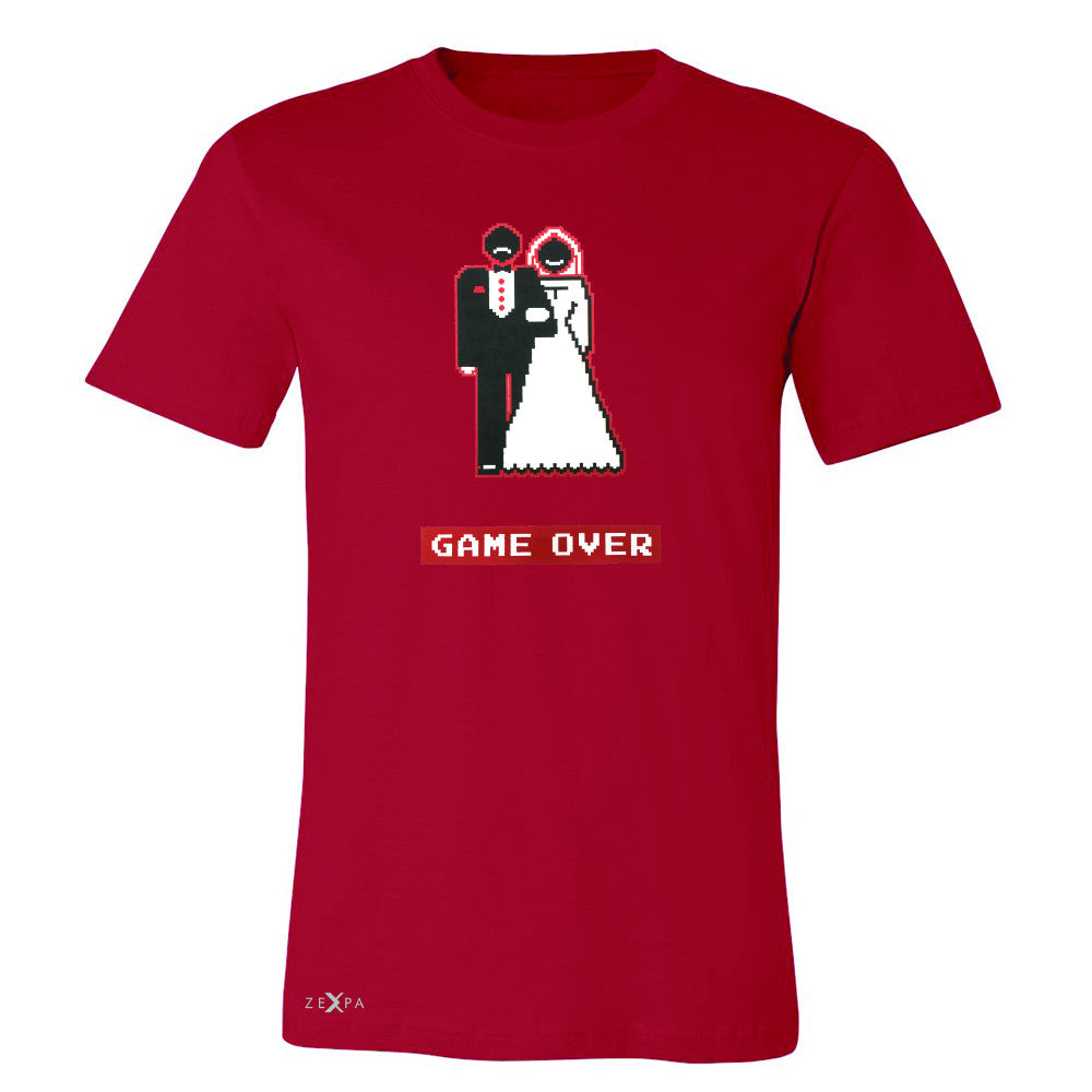 Game Over Wedding Married Video Game Men's T-shirt Funny Gift Tee - Zexpa Apparel - 5