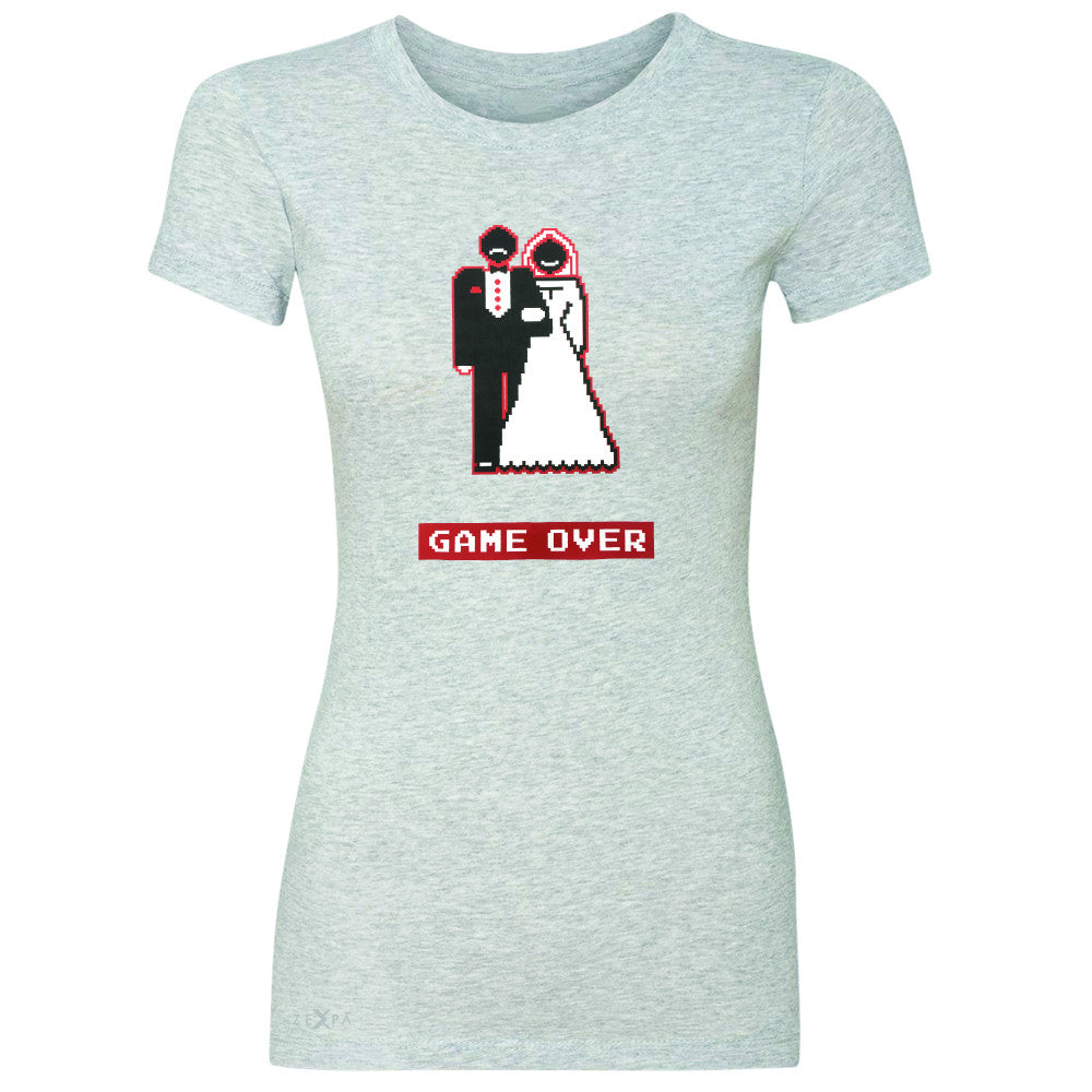 Game Over Wedding Married Video Game Women's T-shirt Funny Gift Tee - Zexpa Apparel - 2