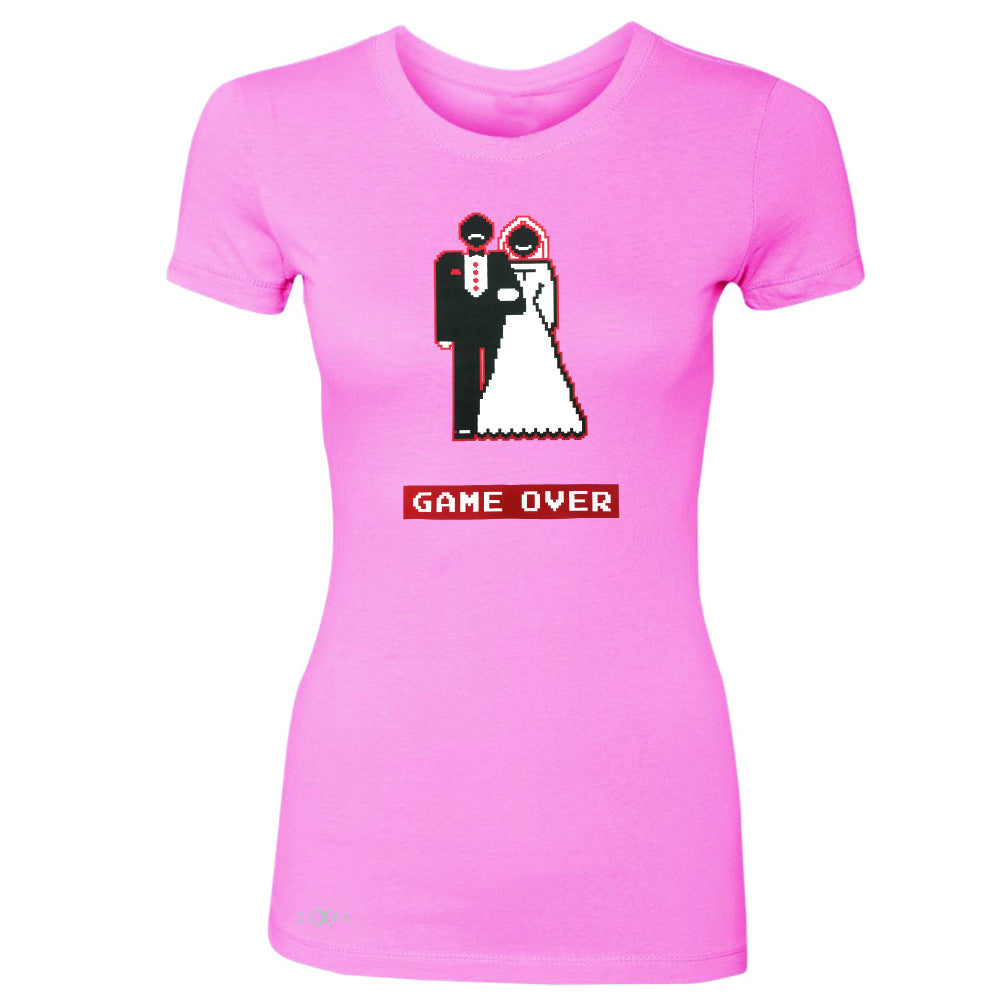 Game Over Wedding Married Video Game Women's T-shirt Funny Gift Tee - Zexpa Apparel - 3