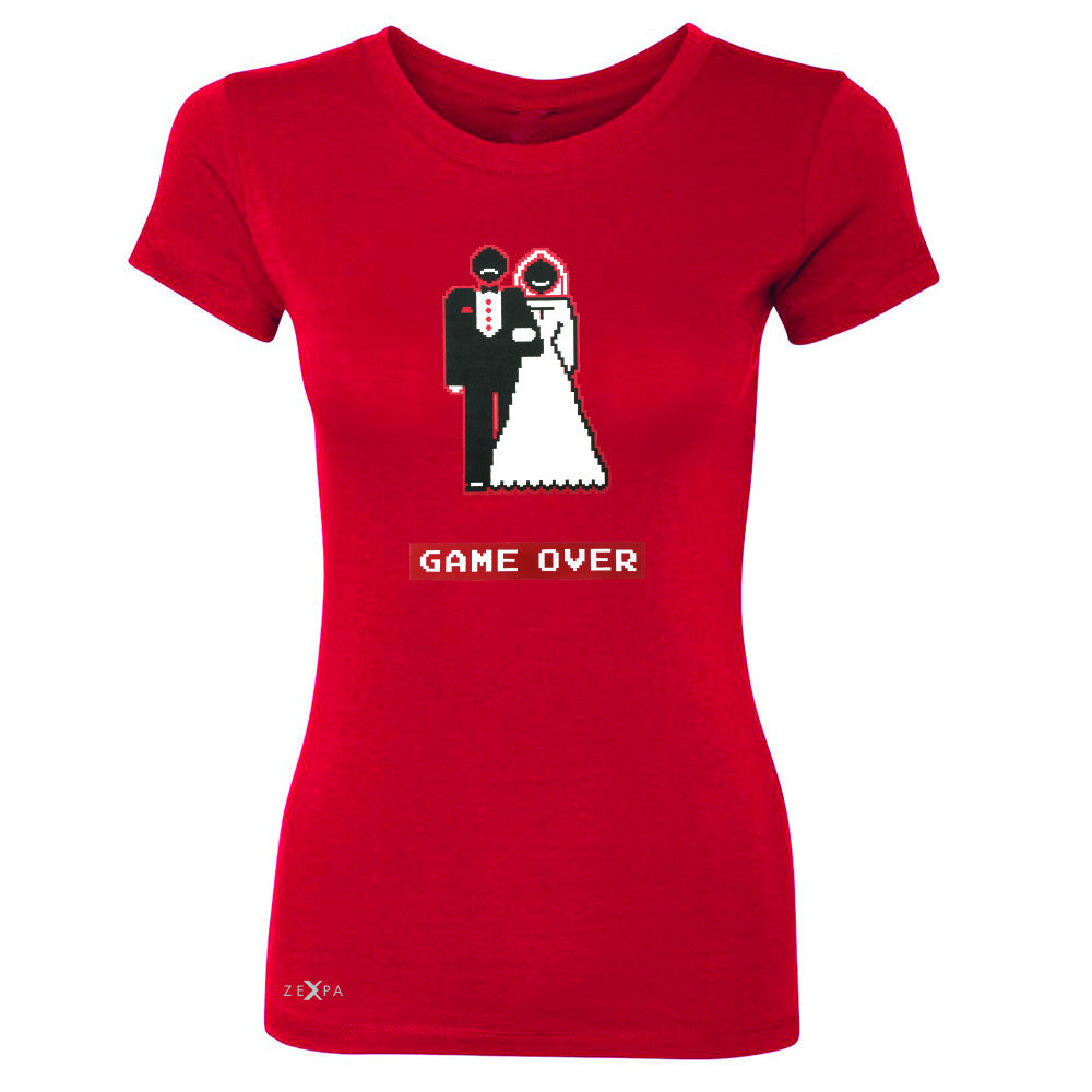 Game Over Wedding Married Video Game Women's T-shirt Funny Gift Tee - Zexpa Apparel - 4
