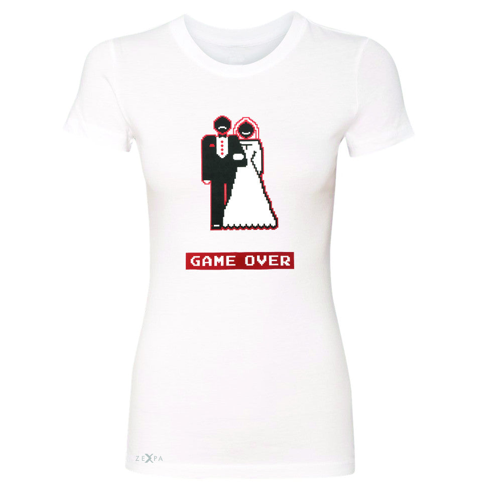 Game Over Wedding Married Video Game Women's T-shirt Funny Gift Tee - Zexpa Apparel - 5