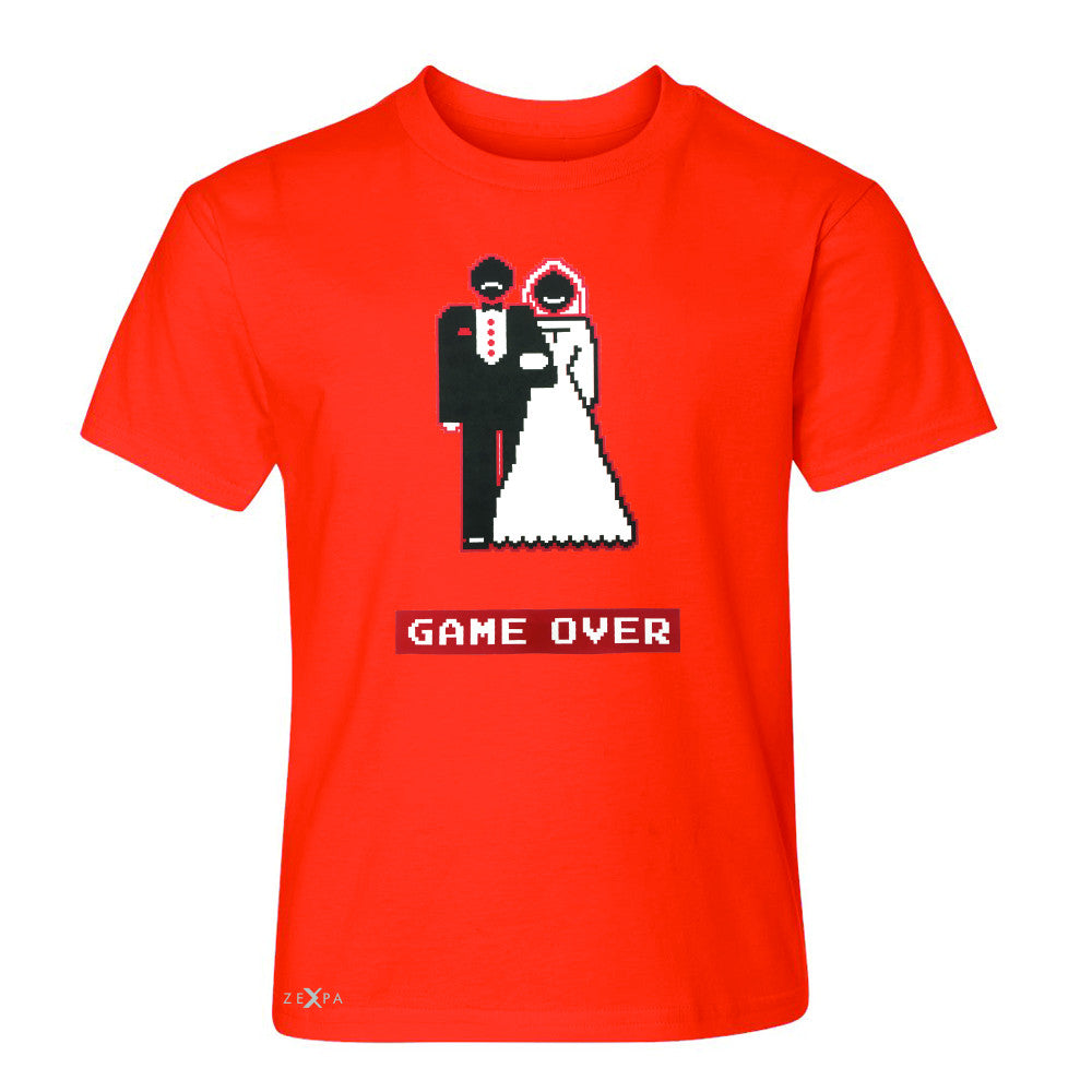 Game Over Wedding Married Video Game Youth T-shirt Funny Gift Tee - Zexpa Apparel - 2