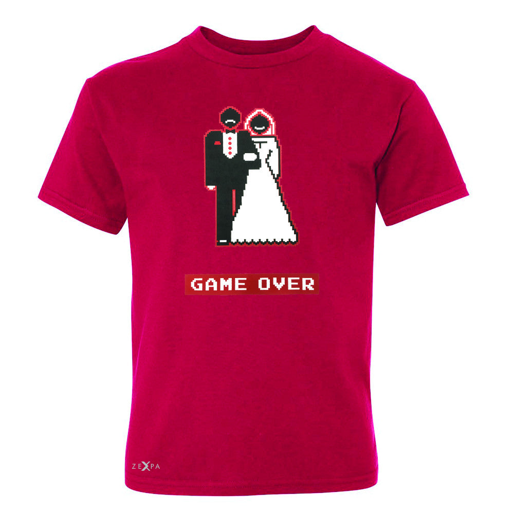 Game Over Wedding Married Video Game Youth T-shirt Funny Gift Tee - Zexpa Apparel - 4