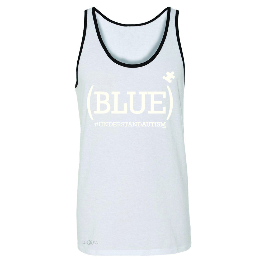 Blue Understand Autism #understandautism Men's Jersey Tank Support Sleeveless - Zexpa Apparel Halloween Christmas Shirts