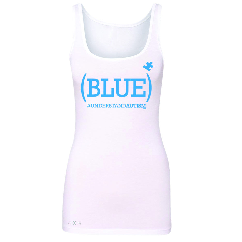 Zexpa Apparel™ Blue Understand Autism #understandautism Women's Tank Top Aware Sleeveless - Zexpa Apparel Halloween Christmas Shirts