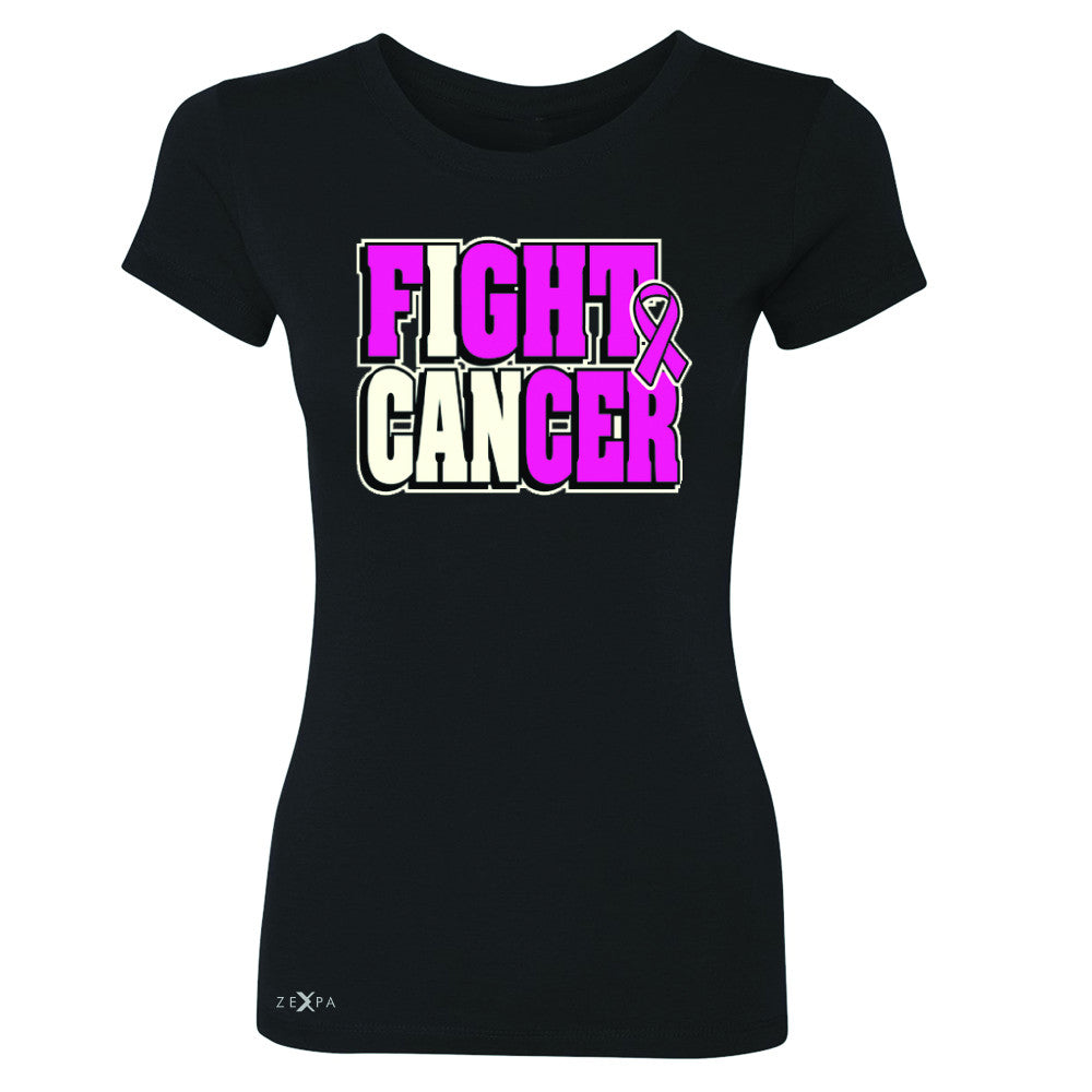 Fight Cancer I CAN Women's T-shirt Breast Cancer Tee - Zexpa Apparel
