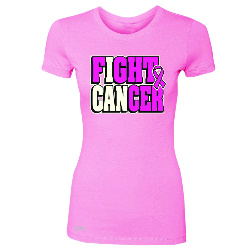 Fight Cancer I CAN Women's T-shirt Breast Cancer Tee - Zexpa Apparel - 3